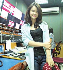 MC Trà My làm việc tại truyền hình An Viên